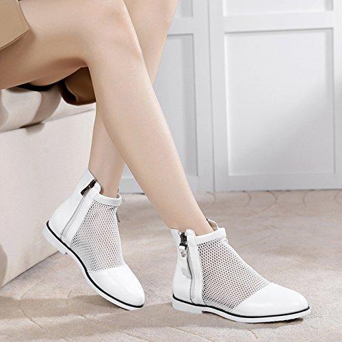 five Thirty 2Cm Respirant Avec Bottes KHSKX Hollow De Chaussures Faible Blanches De L'Automne Bottes Femmes Gaze Tennis x77qw0aZ