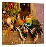 Cheap 3dRose dpp_52081_1 Hispanic Girl and Boy Ceramic Hanging on a Mirror with Hot Chilies and Leaves at Mexican Restaurant-Wall Clock, 10 by 10″