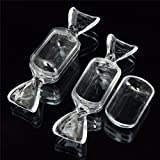 Money coming shop High Quality New Arrival 10Pcs Transparent Clear Plastic Sweet Shaped Candy Boxes Case Storage Container