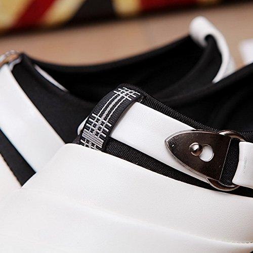 Slip White Wedding Casual Men's Metal XiaoYouYu Buckle On Shoes 6wIvfwSqx