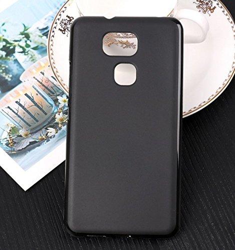 PREVOA Funda para BQ Aquaris V Plus / VS Plus - Colorful Silicona TPU Funda Case para BQ Aquaris V Plus / VS Plus Smartphone - 6 Negro