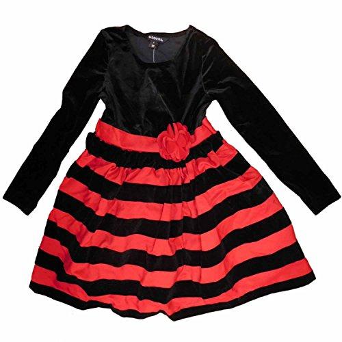 Black Velour Holiday Dress - 7