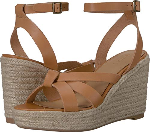 Soludos Women's Charlotte Wedge Nude 8 B - Leather Charlotte Wedges