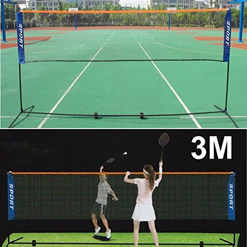 Yaheetech Badminton,Tennis&Volleyball Net with collapsible stand fram for Training and Match,10.17ft x 4.92ft (L&W)