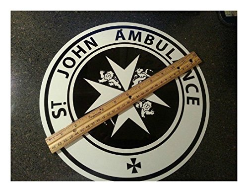 Doctor Who -SAINT JOHN - ALUMINUM sign,TARDIS Dr. Who, St. John AMBULANCE sign (St John Ambulance Sign)