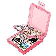 Insten Game Card Case For Nintendo 3DS/ DS/ DS Lite/ DSi/ DSi LL/ DSi XL/ Nintendo New 3DS, Light Coral