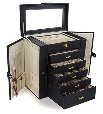 Kendal Huge Leather Jewelry Box/Case / Storage LJC-SHD5