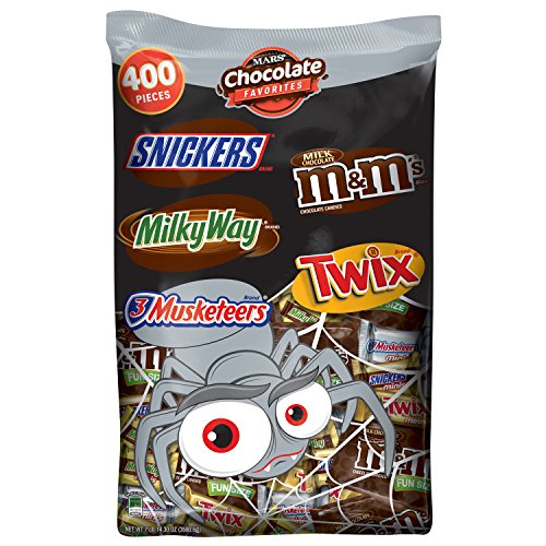 MARS Chocolate Halloween Candy Variety Mix ,400 Count -