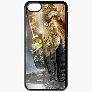 Personalized iPhone 5C Cell phone Case/Cover Skin Achtung Panzer Black