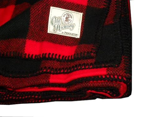 Buffalo Plaid Wool (Old Hickory Wool Buffalo Throw Blanket by Pendleton)