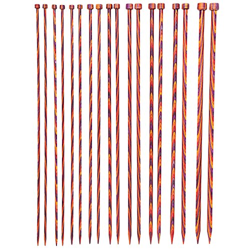 Knit Needle Size - Knit Picks Wood Straight Single Point Knitting Needle Set US 4-11 (14
