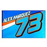 Alex Marquez 73 Moto GP Logo Flag Blue Official 2018