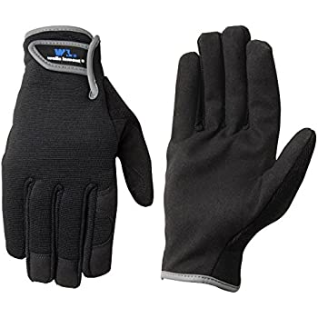 Wells Lamont Synthetic Leather Work Gloves, High Dexterity, Medium, 2 Pair Pack (7700MN)
