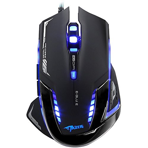 Optical Usb Pc Mac (E-3LUE Wired Gaming Mouse with Adjustable DPI,Multi-Modes LED Lights USB Optical Ergonomic Computer Mice for Gamer,PC,Mac,Laptop,Macbook,Black)