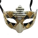 ZjpMask Exquisite Painted Music Antique Women/Men Venetian Masquerade Mask Ball (Black Gold)