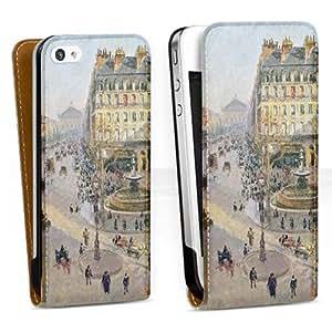 Diseño para Apple iPhone 4 / 4S DesignTasche Downflip white - The Avenue de L'Opera