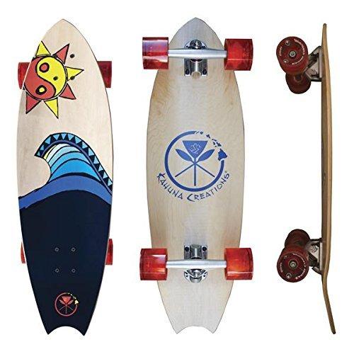 Kahuna Creations Longboard Skateboard (Kahuna Creations - Aloha Rider Fun Board 31 Inch | Small Longboard Skateboard)