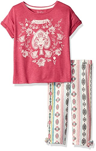 Price comparison product image Jessica Simpson Little Girls' Toddler Echo Wild Card/Symbol 2Pc Set, Very Berry, 3T