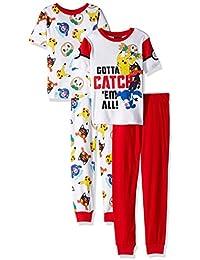 Pokemon Boys' Catch 'Em All 4-Piece Cotton Pajama Set
