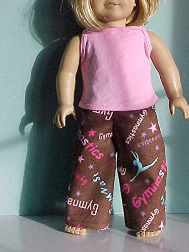 Flannel Loungewear - Loungewear or Pajama Bottoms: Flannel Gymnastics Pants fits American Girl