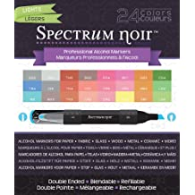 Crafter's Companion Spectrum Noir Alcohol Markers, Lights, 24 Per Package