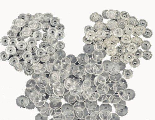 Clear Transparent KAM Snaps Plastic Buttons - 100 Sets