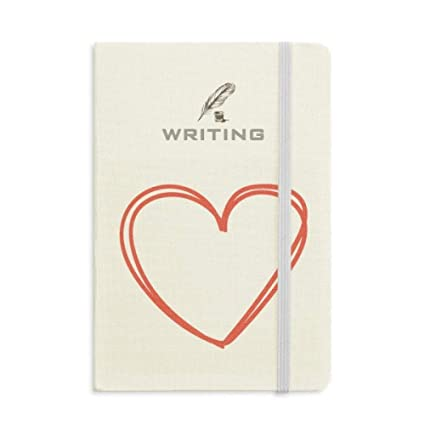 Valentines Day Heart Double Lines Writing Notebook Classic Journal Diary A5