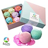 8 Luxurious Bath Bombs Gift Set (Extra Large 4.2 oz / 120 gr) - Canadian made - Ultra Lush SPA 100% Essential Oil - Organic ingredients- Colourful & Fizzy- MultiSensory Aromatherapy - Relaxation