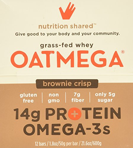 Boundless Nutrition Oatmegabar Brownie Omega 3 & Protein Bars 12 (1.8 oz.) bars per box - 3PC by Boundless Nutrition