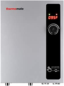 Tankless Water Heater Electric 27kW 240 Volt, thermomate On Demand Instant Endless Hot Water Heater, Digital Temperature Display and Compact Easy Installation, for Residential Whole House Shower, 114A