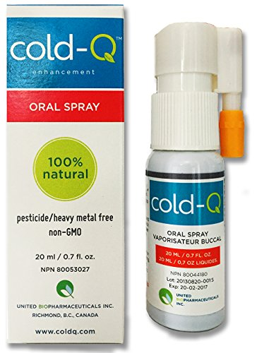 cold-Q is a natural oral spray designed to help your body fight the common cold. 0.7 fluid ounce spray