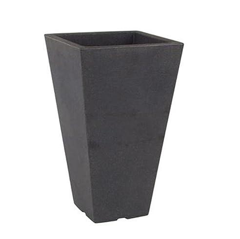 Pflanzkübel Capri schwarz 28x28x45cm: Amazon.de: Garten