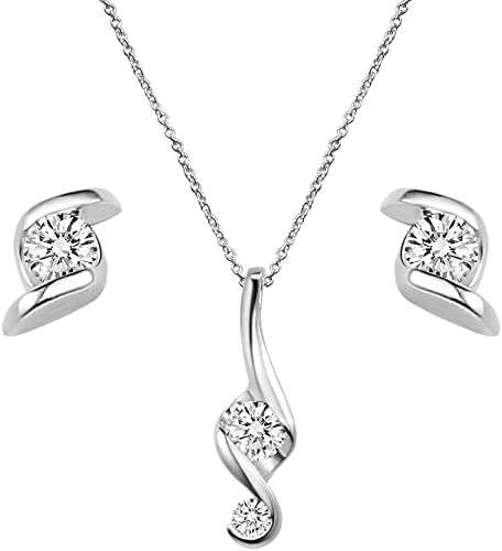 Clear White Austria Crystal Imitated Cat Eye Stone Oval Pendant Chain Necklace
