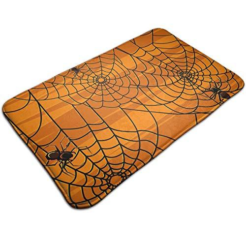(Jingclor Doormat Entrance Floor Rug Scary Halloween Spiders Graphics Indoor Mat Non-Slip Flannel for Bedroom Bathroom Living Room Kitchen Home Decorative)