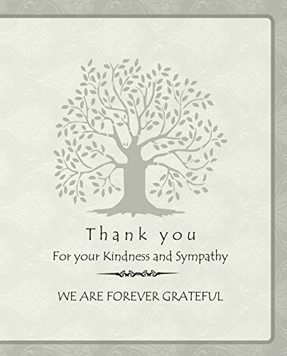 Inside Card - 20 Celebration of life Funeral thank you cards with envelopes acknowledgment memorial Sympathy Thank you Cards (ivory cream)