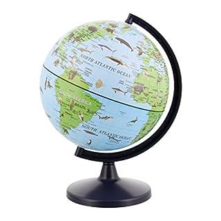"5.6"" Inch (14.2cm) Animals of The World Wildlife Desktop World Earth Globe"