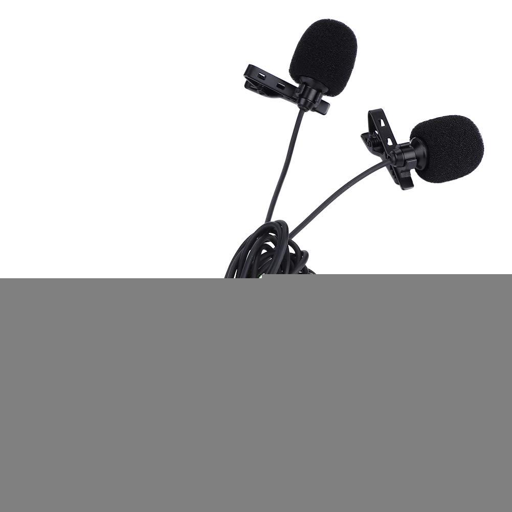 Taidda Lapel Tie Clip Microphone, Capacitor Dual-Head Microphone ...