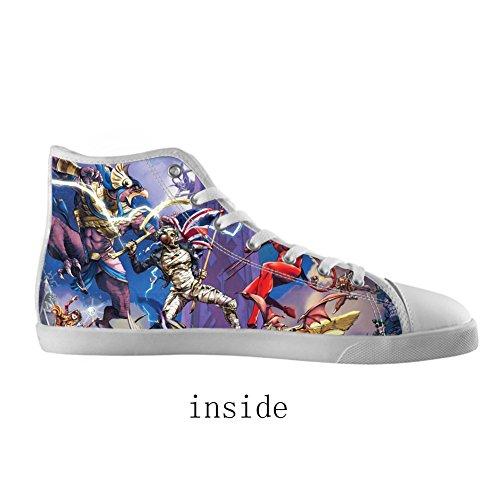 Groupe Kjlj Haut hommes Pour Rock White2 Toile Hommes Chaussures Style Haute Les De Des rxIrqFU