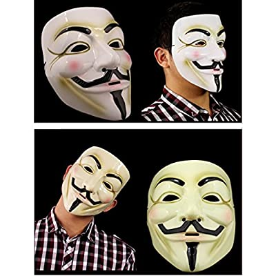 Gmasking V for Vendetta Guy Fawkes Anonymous Mask 2 Pieces: Toys & Games