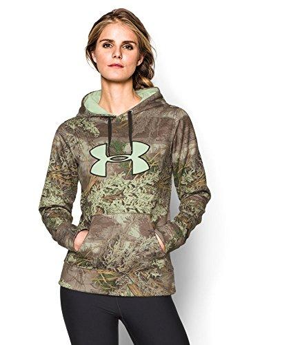 Real Logo Sweatshirt (Under Armour Womens UA Camo Big Logo Hoodie Medium Real Tree Max)