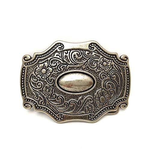 Western cowboy belt buckle for belt accessories Custom buckle (Retro Egg Gemstone)