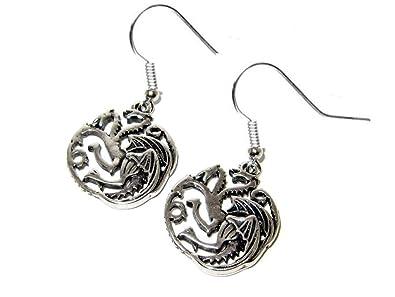 Amazon.com: game of thrones house of targaryen dragon silver dangle