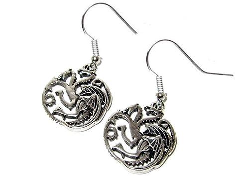 Amazon game of thrones house of targaryen dragon silver
