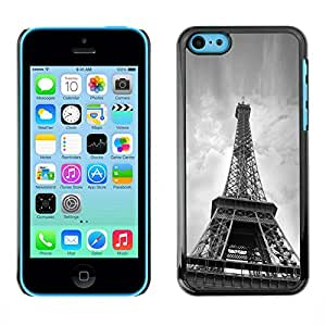 Exotic-Star ( Architecture Eiffel Tower Below ) Fundas Cover Cubre Hard Case Cover para Apple iPhone 5C