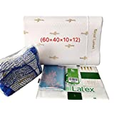 AOOK ROYAL Natural Latex Pillow with 100% Ventilated Latex Foam,23.6x15.7x3.3-3.9 (Standard) (X-Large)