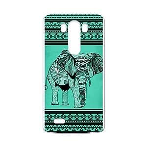 Canting_Good Elephant aztec tribal Custom Case Shell Skin for LG G3 (Laser Technology)
