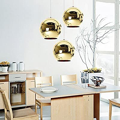 Modern Pendant Light in Globe Metal Shape, MKLOT Mini Style Ceiling Lighting Fixture Ball Lampe Shade for Kitchen,Dining Room,Bar