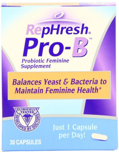 RepHresh Pro-B Probiotic Feminine Supplement, 30-Count Capsules 51PyMSAqYVL