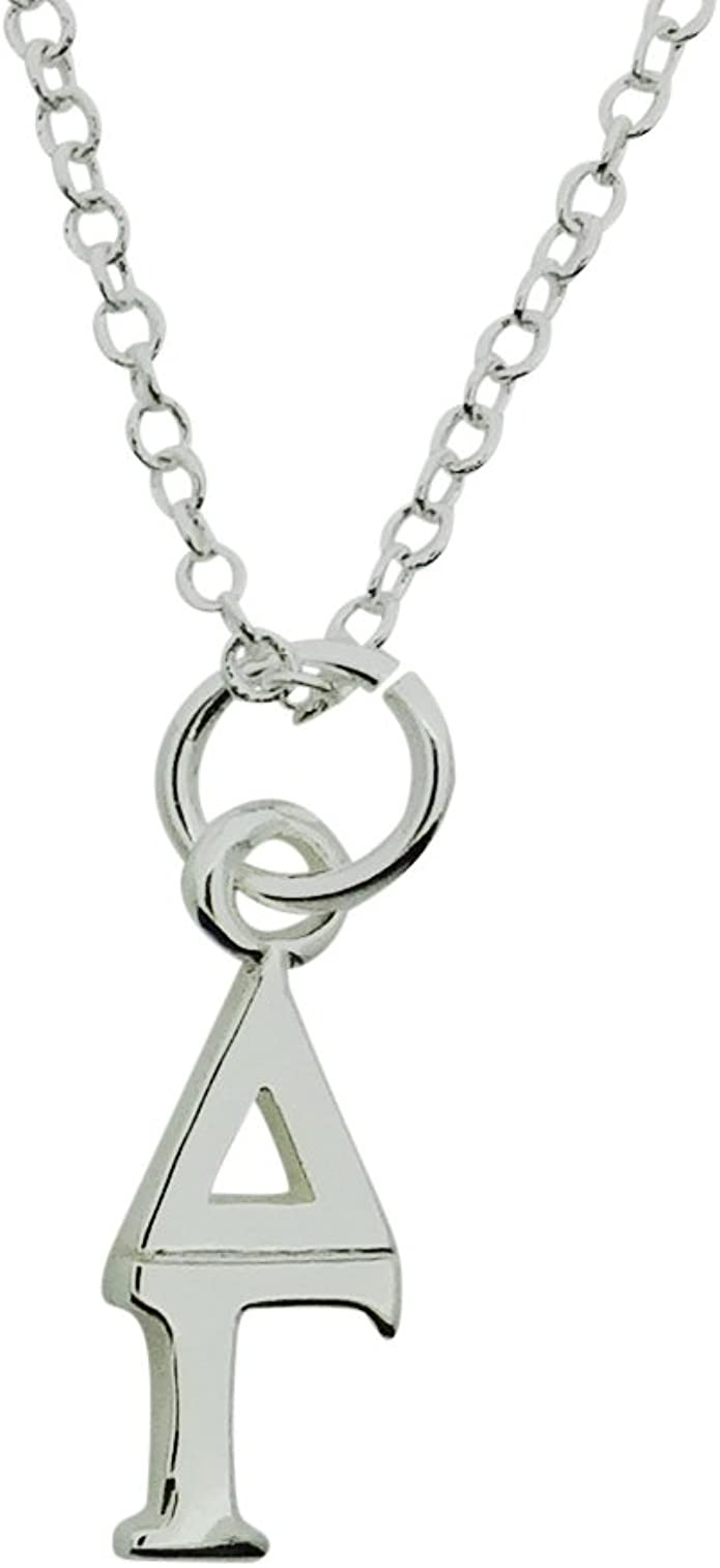 Kappa Kappa Gamma Sorority Sterling Silver Lavalier with Chain