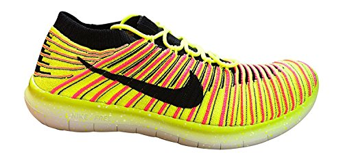 Nike Womens Free Running Motion Flyknit Shoes Multi Colour 999